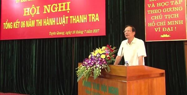 Chủ tịch UBND tỉnh Phạm Minh Huấn phát biểu chỉ đạo hội nghị