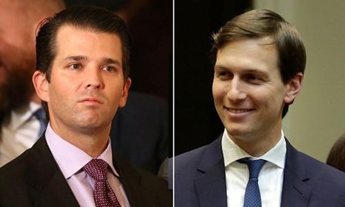 Donald Trump Jr. (trái) và Jared Kushner. Ảnh:Reuters.