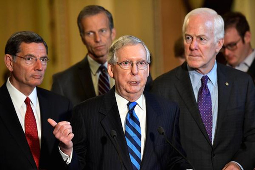 Các thượng nghị sĩ Cộng hòa vẫn chưa thống nhất về việc xóa bỏ Obamacare. Ảnh:NBC News.