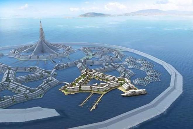 <b>Peter Thiel: Thành phố giữa đại dương</b><br> <br> Nhà đồng sáng tạo PayPal, cũng là nhà đầu tư lớn của Facebook Peter Thiel có ý tưởng xây dựng một thành phố giữa đại dương. Thành phố này sẽ được vận hành bởi các dành khoan chạy bằng diesel nặng hàng nghìn tấn, nhưng cư dân ở đây sẽ không phải lo lắng về chế độ phúc lợi, lương tối thiểu hay các quy định. Tuy vậy, dự án này vẫn đang dậm chân tại chỗ để chờ thêm kinh phí. <br>