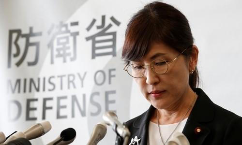 Bộ trưởng Quốc phòng Nhật Bản Tomomi Inada thông báo từ chức ngày 28/7. Ảnh:Reuters.