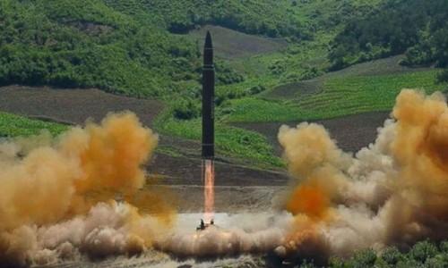 Triều Tiên tuyên bố đã phóng thử thành công tên lửa đạn đạo xuyên lục địa. Ảnh:KCNA.