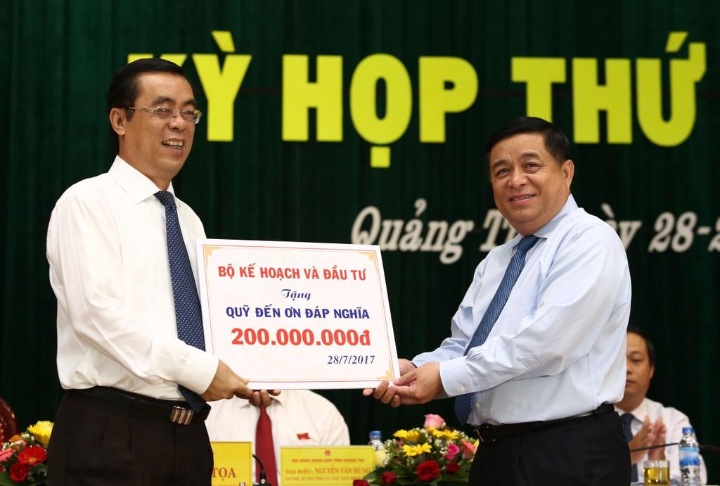 Bộ trưởng Nguyễn Chí Dũng: Hỗ trợ ưu tiên các nguồn lực, tạo điều kiện để Quảng Trị phát triển - ảnh 1