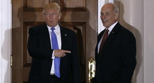 Ông Trump gặp ông Kelly hồi tháng 11/2016. Ảnh:Reuters.