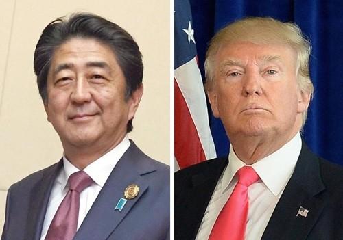 Thủ tướng Nhật Shinzo Abe và Tổng thống Mỹ Donald Trump. Ảnh:Kyodo, AP.