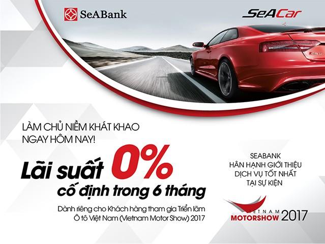 SeABank ưu đãi khách hàng tại triển lãm Vietnam Motorshow 2017