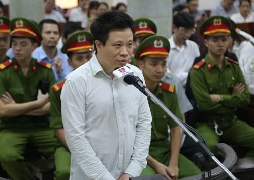 Bị cáo Hà Văn Thắm tại phiên tòa.Ảnh: Xuân Hoa.
