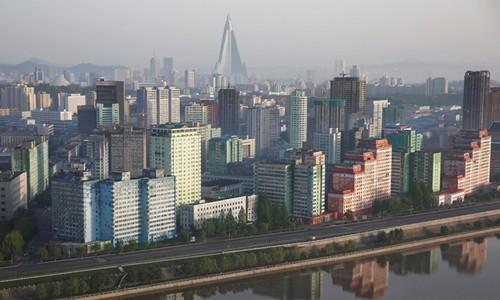 Một phần thủ đô Bình Nhưỡng, Triều Tiên. Ảnh:Reuters.