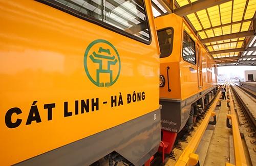 Dự kiến mộtnăm nữa, tuyến đường sắt đô thị Cát Linh - Hà Đông sẽ chính thức vận hành. Ảnh minh hoạ:Ngọc Thành.