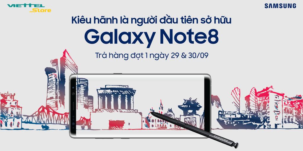 Viettel Store công bố cháy hàng ngày trước khi mở bán Galaxy Note 8 kèm gói Super Combo 4G