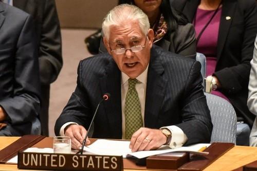Ngoại trưởng Mỹ Rex Tillerson. Ảnh:Reuters.