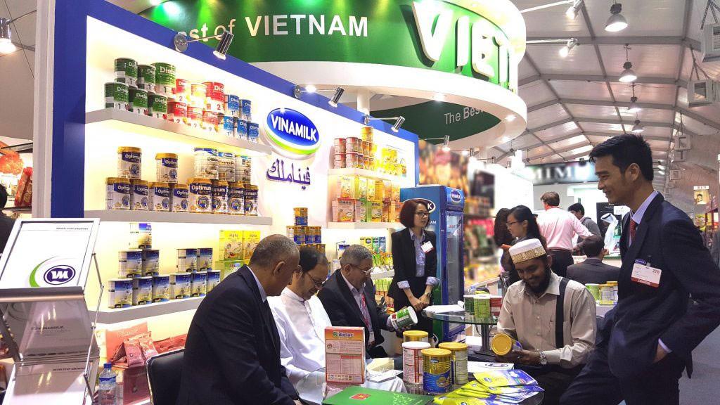 Sản phẩm sữa của Vinamilk đã góp mặt ở hơn 40 quốc gia trên thế giới. Ảnh: Lan Hương