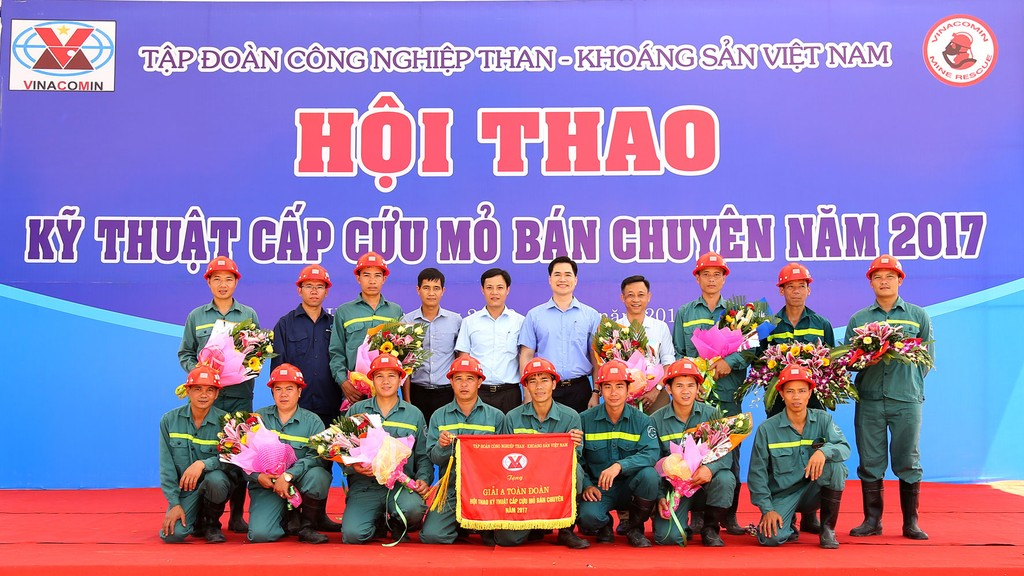 Than Nam Mẫu giành giải A toàn đoàn tại Hội thao kỹ thuật Cấp cứu mỏ bán chuyên do TKV tổ chức