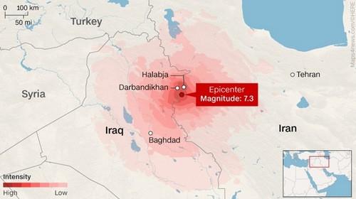 Iran dừng tìm kiếm cứu hộ sau động đất làm 450 người chết - ảnh 1