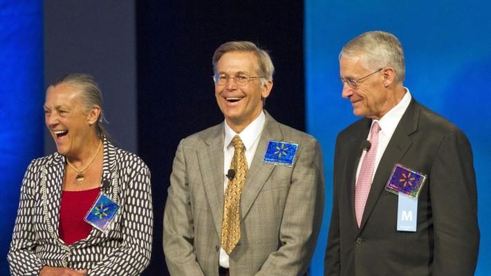 Rob, Alice và Jim Walton - con của nhà sáng lập đế chế Wal-Mart - Ảnh: Huffington Post.