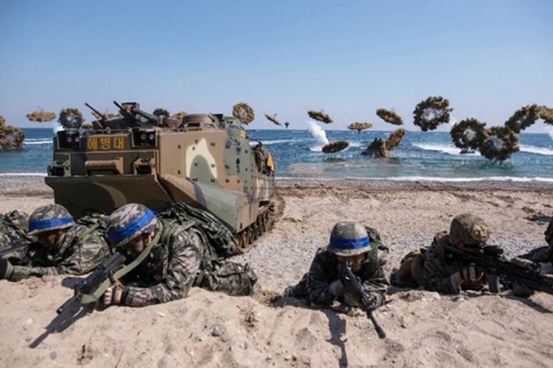 Một cuộc tập trận quân sự chung Mỹ - Hàn. Ảnh:AFP.