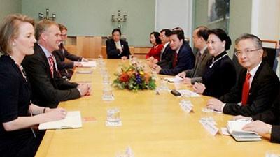 Chủ tịch Quốc hội Nguyễn Thị Kim Ngân và Đoàn đại biểu cấp cao Quốc hội Việt Nam thăm chính thức Australia. Ảnh: VOV