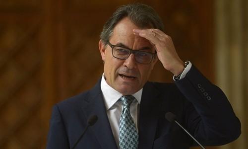 Ông Artur Mas hồi năm 2014. Ảnh:Reuters.