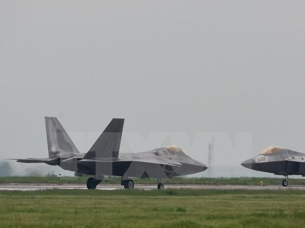 Máy bay chiến đấu Raptor F-22 của Không lực Mỹ. (Nguồn: AFP/ TTXVN)