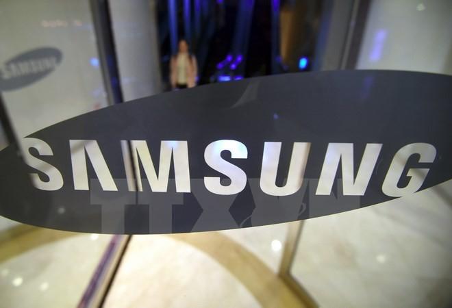 Biểu tượng Samsung tại văn phòng ở thủ đô Seoul, Hàn Quốc ngày 31/10 vừa qua. (Ảnh: AFP/TTXVN)