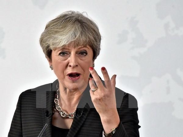 Thủ tướng Anh Theresa May tại thủ đô London. (Nguồn: AFP/TTXVN)