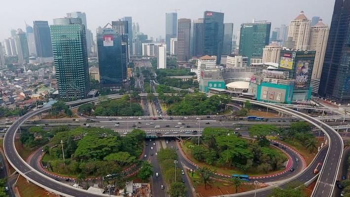 Một góc thủ đô Jakarta của Indonesia - Ảnh: Bloomberg.