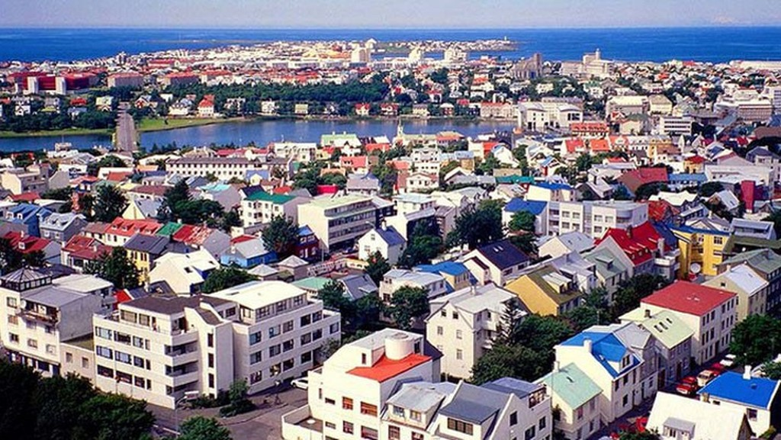Thủ đô Reykjavik của Iceland.