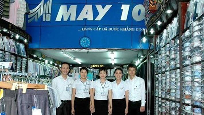 Cổ đông Nhà nước – Tập đoàn Dệt May Việt Nam nắm giữ 33,82% vốn điều lệ của May 10.