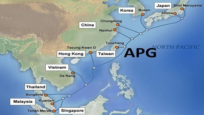Trong quá trình di dời tuyến cáp quang APG, lưu lượng kênh truyền kết nối Internet quốc tế trên tuyến cáp biển này có thể tạm thời bị gián đoạn.