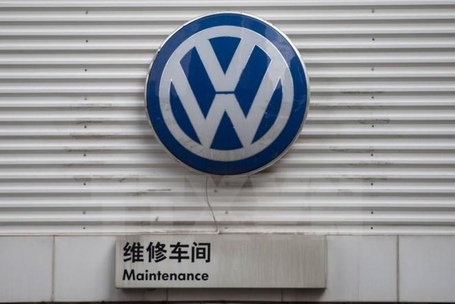 Biểu tượng Volkswagen tại Bắc Kinh, Trung Quốc. (Nguồn: AFP/TTXVN)