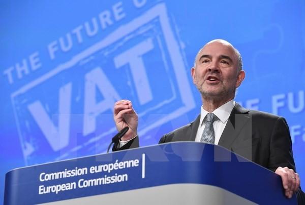 Đại diện cấp cao của EU về các vấn đề kinh tế Pierre Moscovici. (Nguồn: AFP/TTXVN)