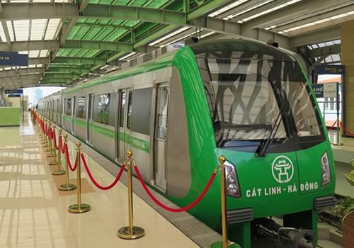 Đường sắt Cát Linh - Hà Đông phấn đấu hoàn thành trong 2018. Ảnh:Xuân Hoa