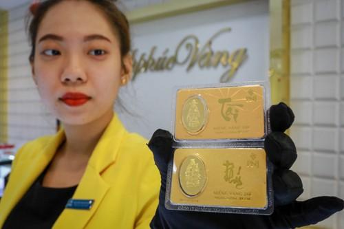 Giá vàng miếng SJC giữ vững trên 37 triệu đồng trong ngày làm việc cuối cùng năm Đinh Dậu. Ảnh:Thành Nguyễn