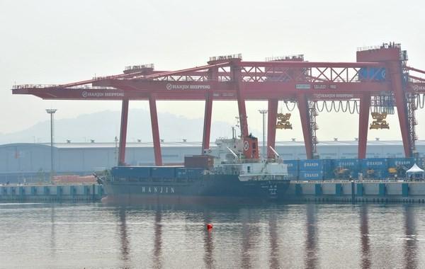 Một cảng hàng hóa ở Gimpo, Hàn Quốc. (Nguồn: AFP/TTXVN)