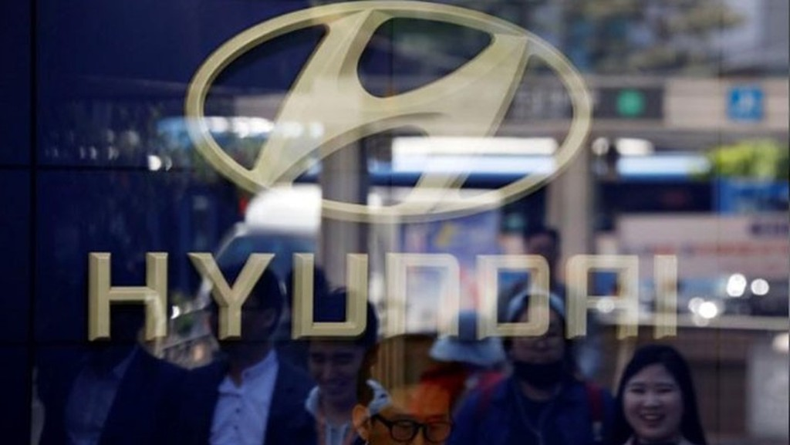 Logo Hyundai tại một đại lý xe của hãng này ở Seoul, Hàn Quốc, tháng 4/2017 - Ảnh: Reuters.