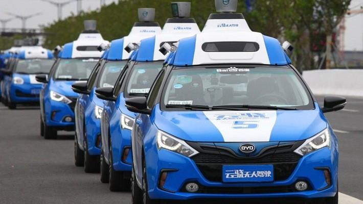 Ôtô tự lái của Baidu - Ảnh: SCMP.