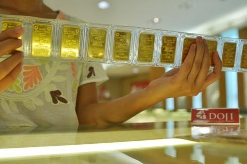 Giá vàng tăng nhẹ vài chục nghìn đồng sáng nay. Ảnh:PV.