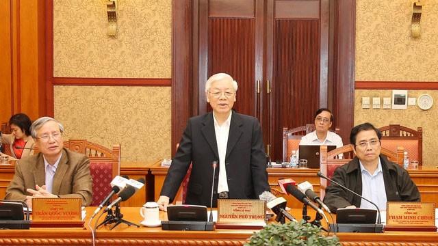 Tổng Bí thư Nguyễn Phú Trọng chủ trì phiên họp Ban Bí thư Trung ương Đảng