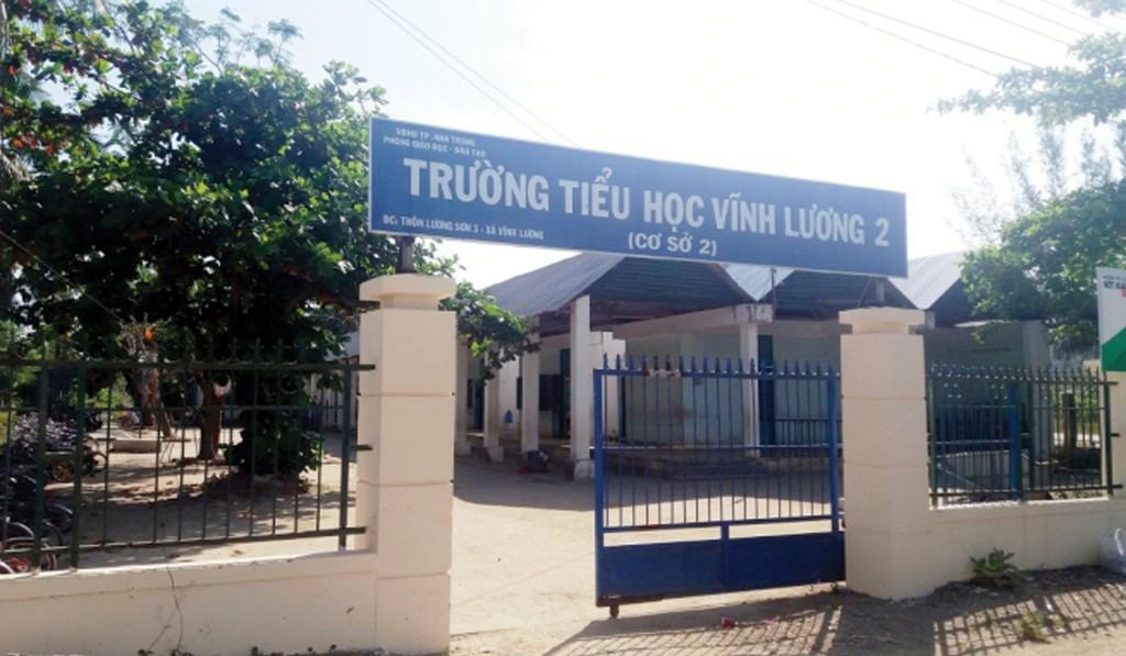 Dự án Xây mới Trường Tiểu học Vĩnh Lương 2 do Phòng Giáo dục và Đào tạo TP. Nha Trang là chủ đầu tư. Ảnh: st