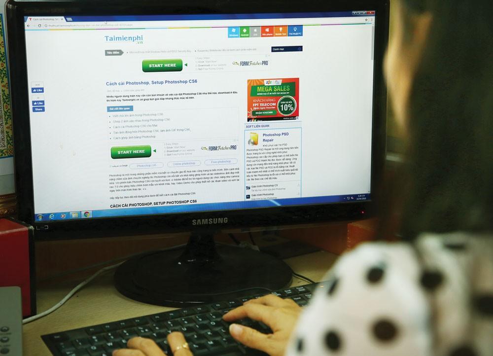 Tỷ lệ phần mềm không bản quyền của Việt Nam thuộc hàng cao nhất khu vực châu Á - Thái Bình Dương. Ảnh: Nhã Chi