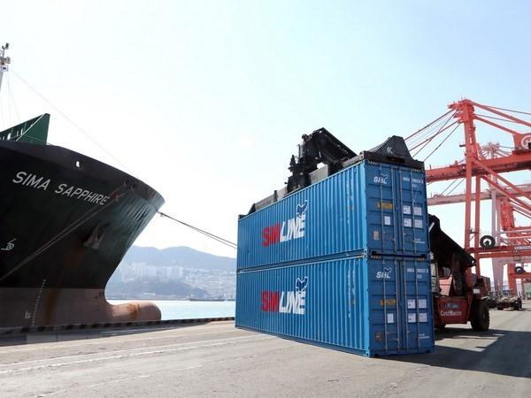 Một cảng hàng hóa ở Busan, Hàn Quốc. (Nguồn: EPA/TTXVN)