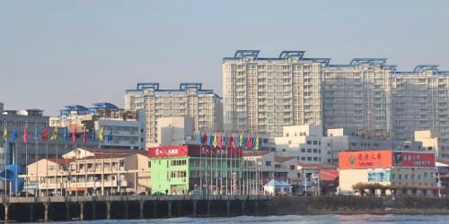 Một góc thành phố Đan Đông của Trung Quốc. Ảnh: Getty