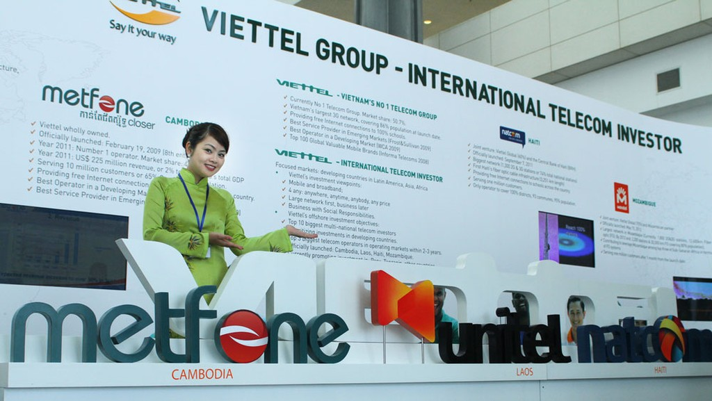 Tập đoàn Công nghiệp - Viễn thông Quân đội (Viettel) là một trong những DN có vốn đăng ký đầu tư ra nước ngoài vượt ngưỡng 1 tỷ USD. Ảnh: Lê Tiên