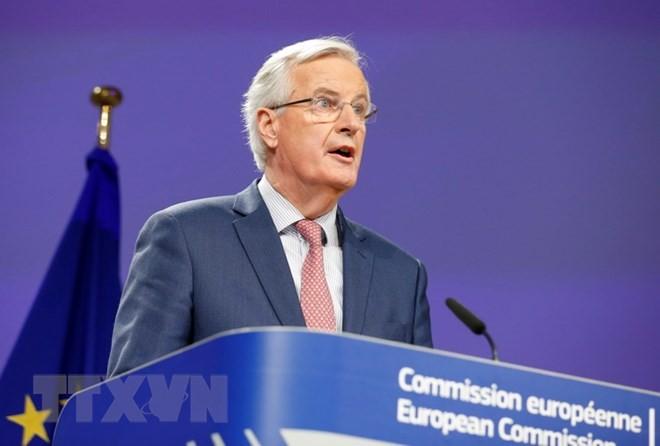 Trưởng đoàn đàm phán EU Michel Barnier. (Ảnh: THX/TTXVN)