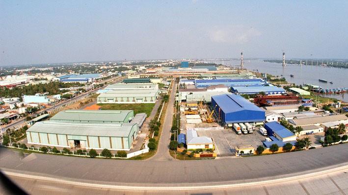 Khu công nghiệp Dịch vụ Dầu khí Soài Rạp có vị trí rất thuận tiện trong việc phát triển kinh tế biển. Ảnh: st