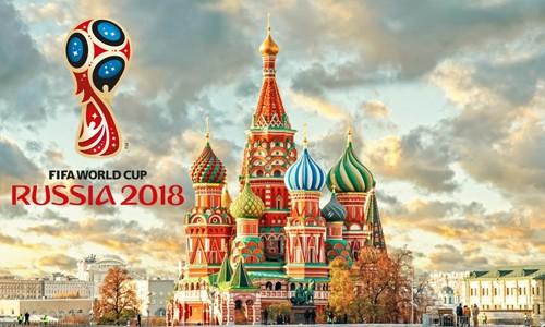 World Cup 2018 sẽ khởi tranh tại Nga từ ngày 14/6.