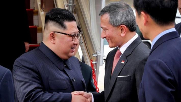 Những hình ảnh đầu tiên của ông Trump và ông Kim Jong Un ở Singapore - ảnh 9