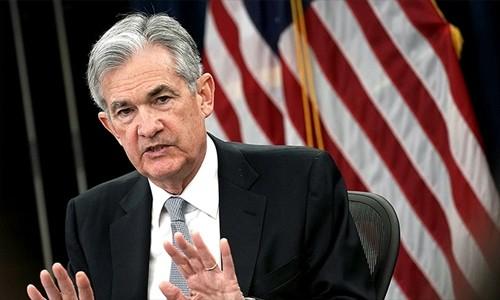 Chủ tịch Cục Dự trữ liên bang Mỹ (Fed) - Jerome Powell. Ảnh:AFP
