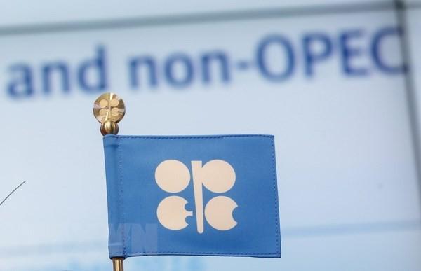 Biểu tượng OPEC tại trụ sở ở Vienna, Áo. (Nguồn: EFE-EPA/TTXVN)