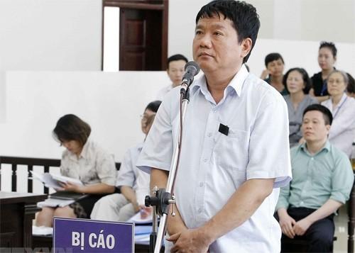 Ông Đinh La Thăng hai lần bị bác đơn kháng cáo tại tòa phúc thẩm.Ảnh: TTXVN